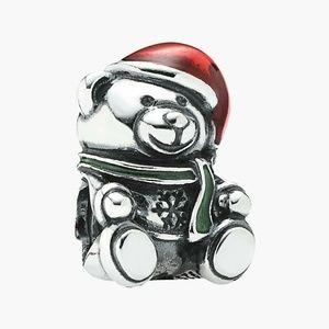 Pandora Christmas Teddy Bear Charm